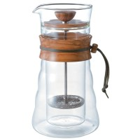 Hario Double Glass Olive Wood Coffee Press