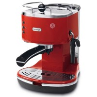 DeLonghi ECO310 Icona Semi-Automatic Espresso Machine in Red