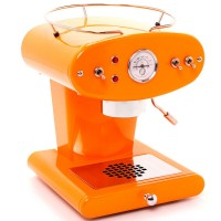 FrancisFrancis! X1 Orange with Brass Boiler and Ground Coffee Handle