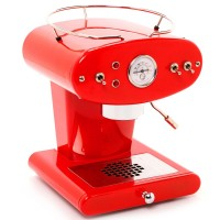 Refurbished FrancisFrancis! X1 Red with Brass Boiler and Ground Coffee Handle