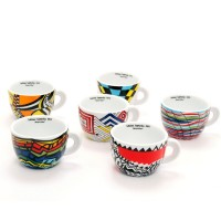 Edex Arlecchino 6 Cappuccino Cup Set 6.4oz from Whole Latte Love